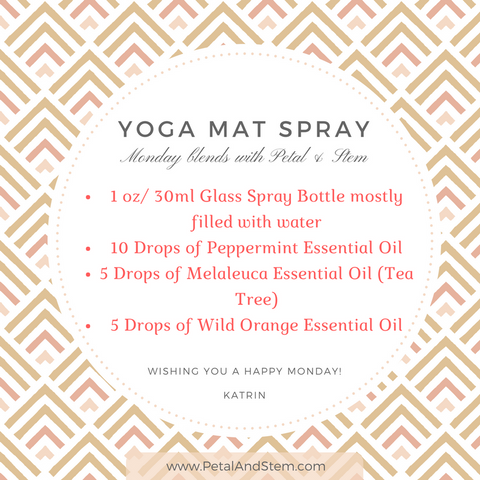 Yoga Mat Spray with Essential Oils by Petal and Stem