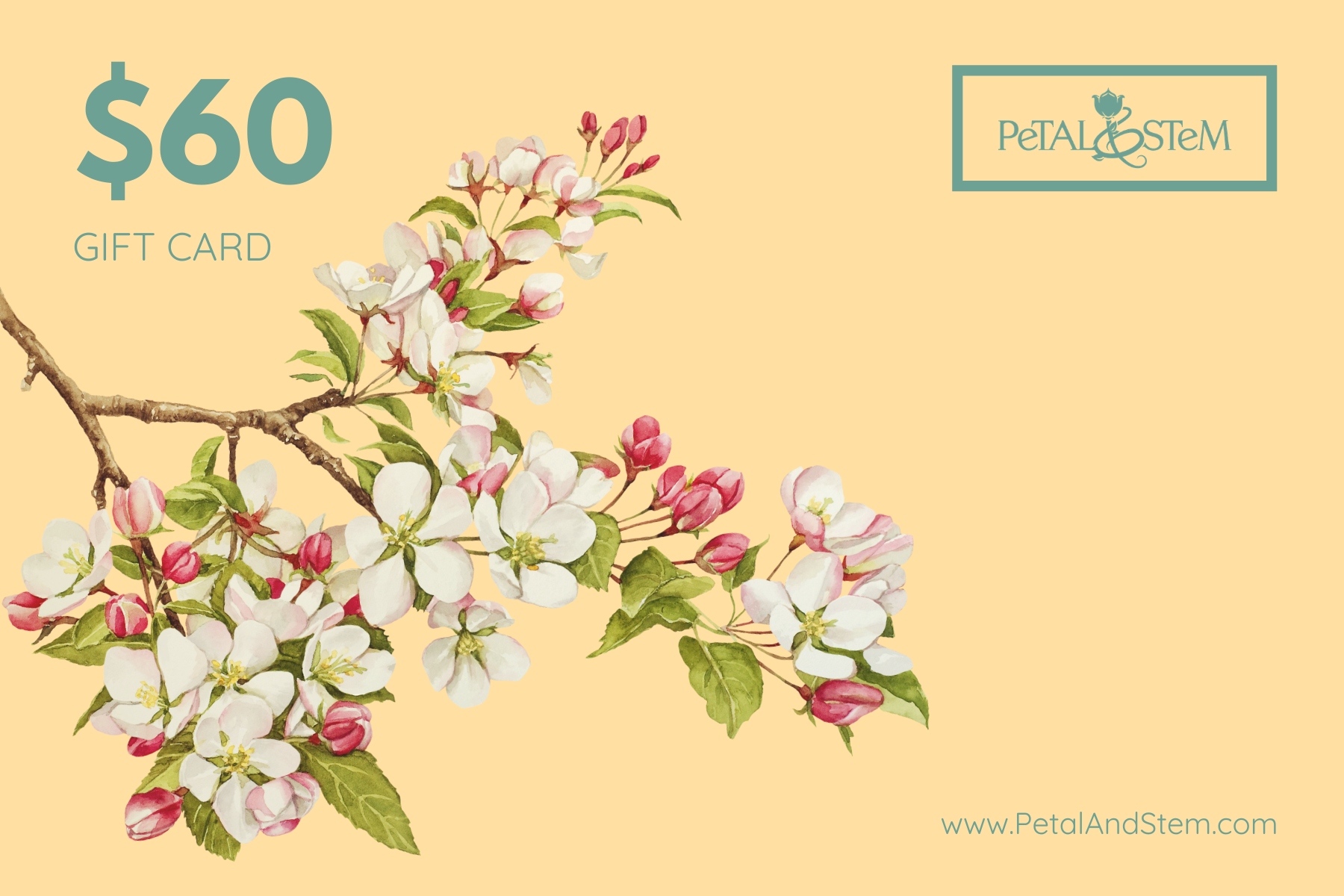 Gift Card for Essential Oils and Aromatherapy - Petal and Stem