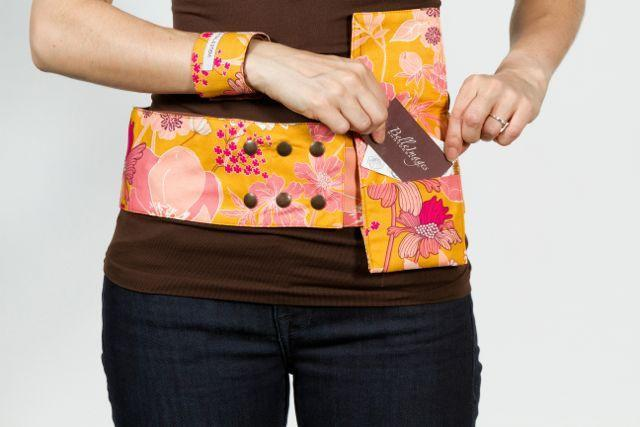 Reversible 4 Pocket Ginger Bliss Hip Hugger - Petal and Stem