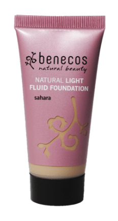 Organic and Vegan Light Fluid Foundation - sahara - Petal and Stem