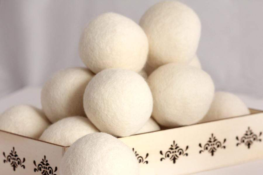 Wool Dryer Balls (organic) - 5 pieces + 1ml Pure Therapeutic Essential Oil Sample - Petal and Stem