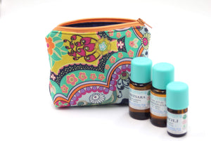 Brit Royal Essential Oil Bag, Travel Bag Set, Cosmetic Cotton Bag, Holiday Gift, Gift for Her - Petal and Stem