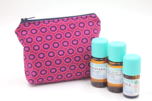 Burg Oval Essential Oil Bag, Travel Bag Set, Cosmetic Cotton Bag, Holiday Gift, Gift for Her - Petal and Stem