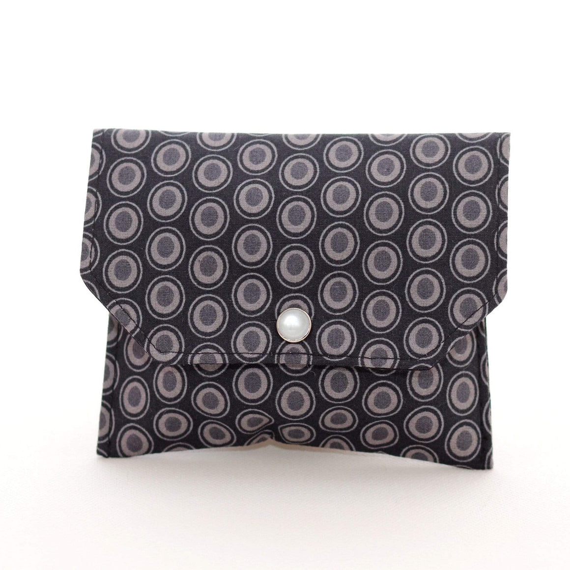 Essential Oil Bag (small) Black Ovals - Holds your most important oils - Petal and Stem