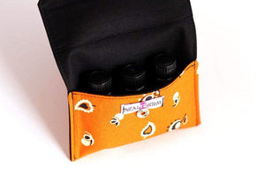 Essential Oil Bag (small) Orange Blossoms Pouch - Holds your most important oils - Petal and Stem