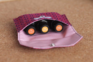 Essential Oil Bags Burgundy Ovals (small)   - Holds your most important oils - Petal and Stem