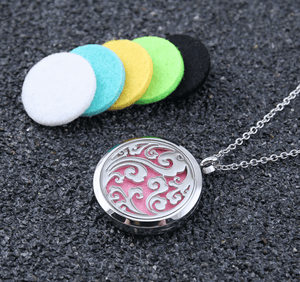 Silver Wave Aromatherapy Locket Jewelry + 1ml Free Essential oil sample - Petal and Stem