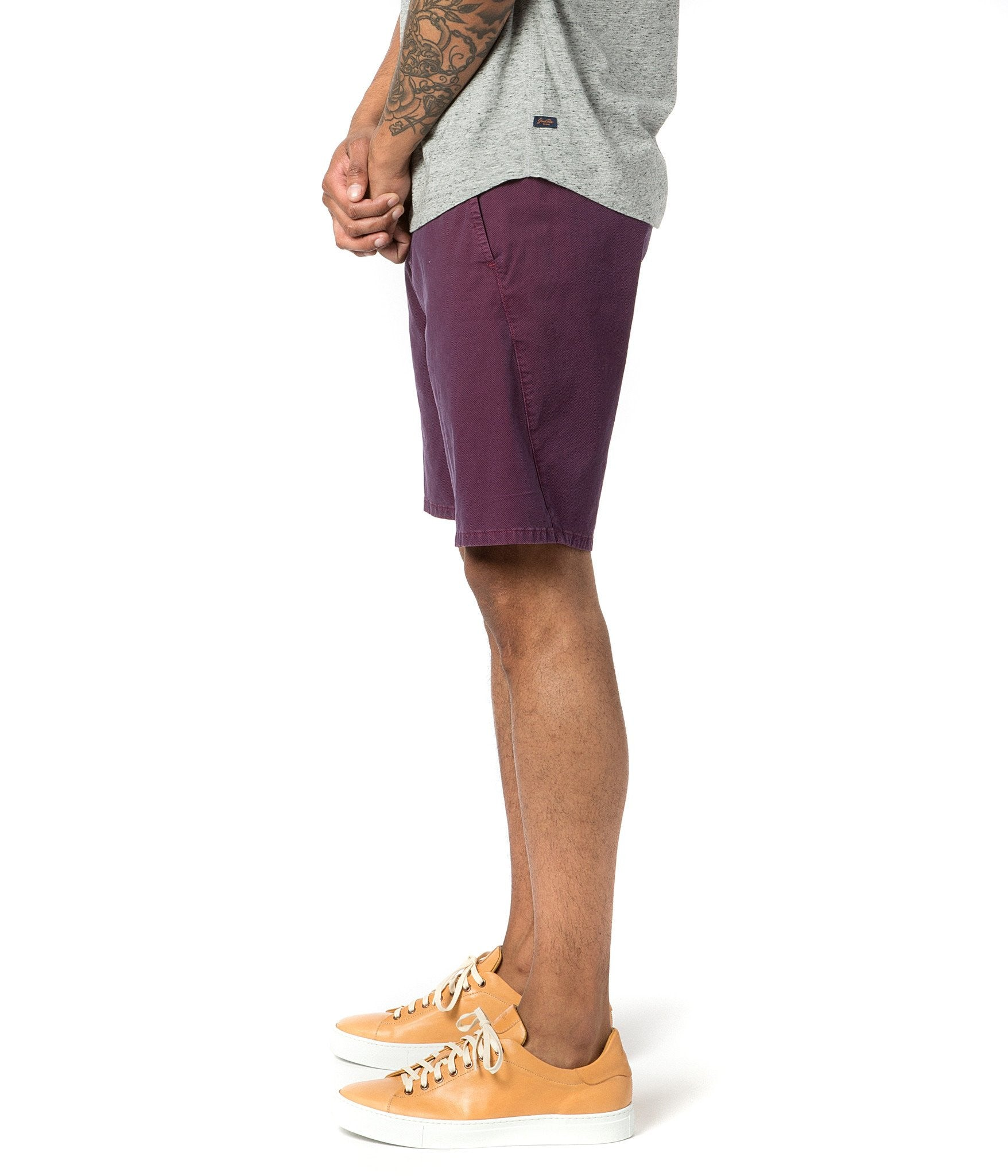 Good Man Brand Carbon Peach Twill Micro Print Shorts