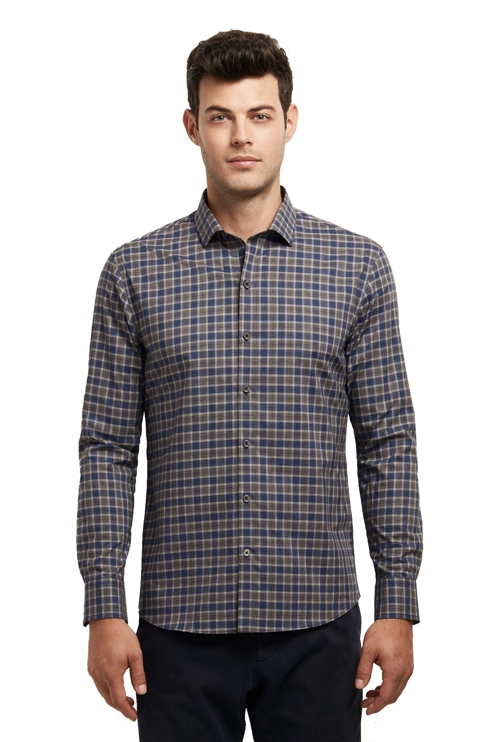 Zachary Prell Giunta Plaid Midweight Soft Cotton Woven Shirt