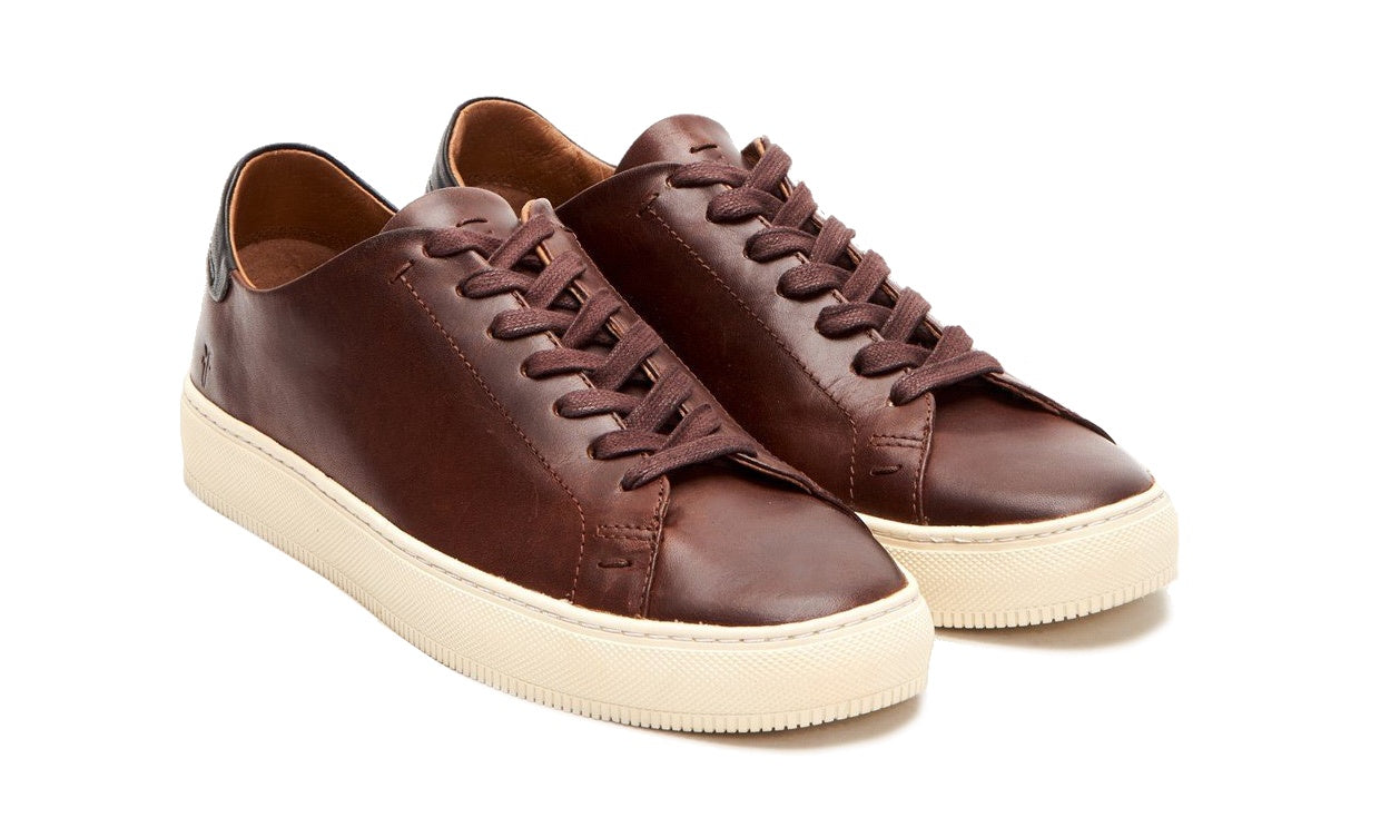 Frye Astor Low Lace Leather Sneakers