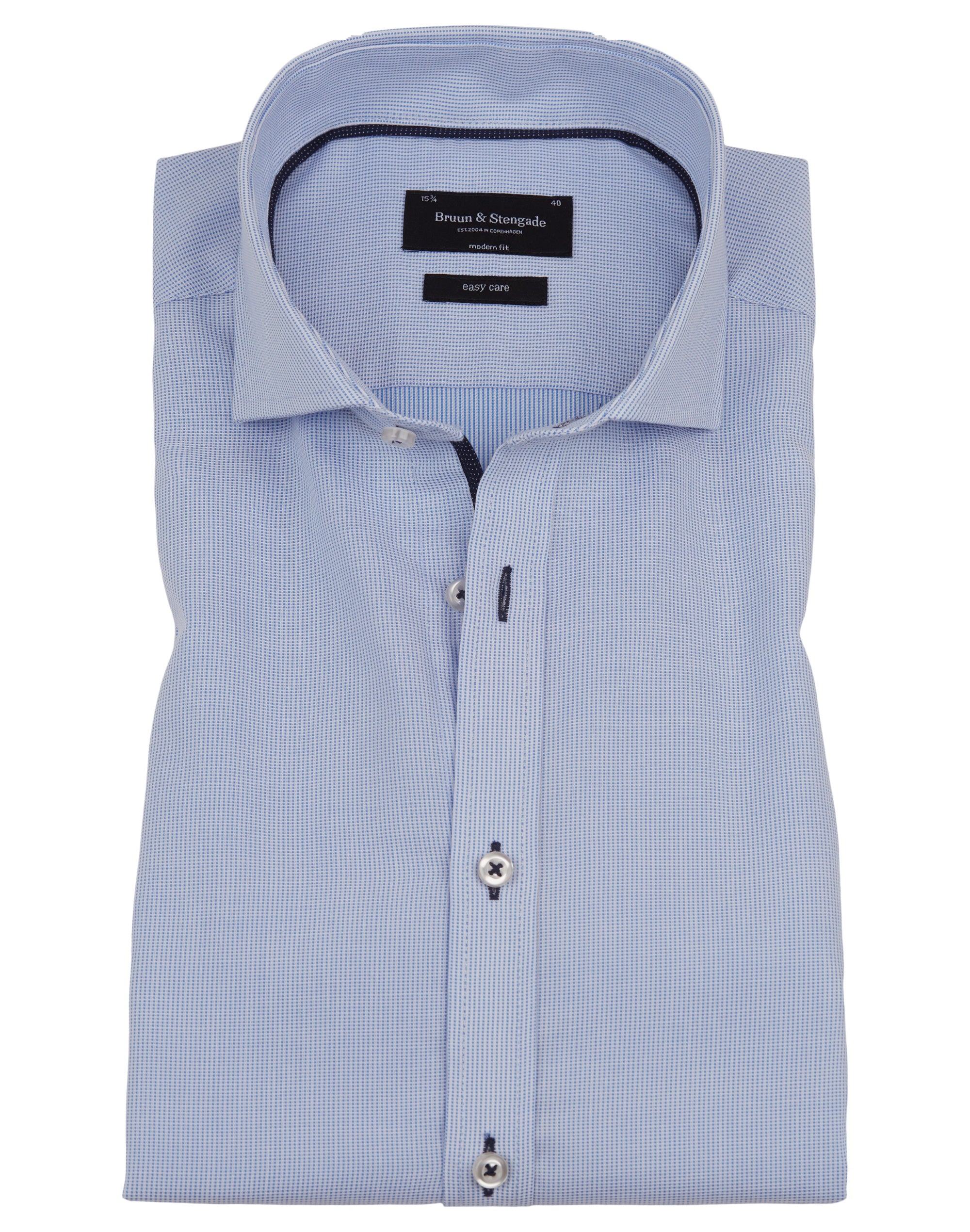 Bruun & Stengade Taggart Micro Check Soft Woven Shirt