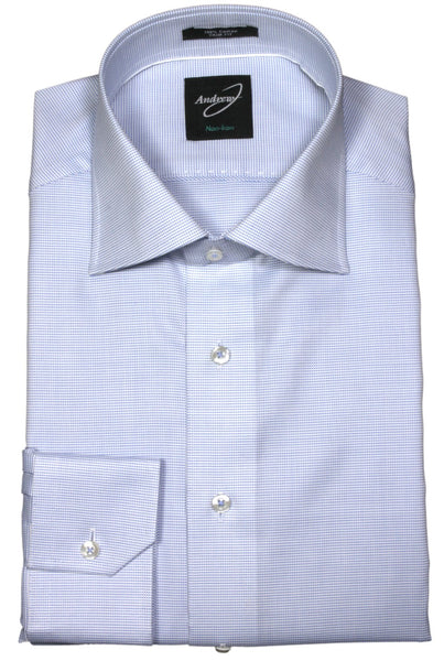 Andrew-J Easy Care Stockholm Trim Fit Textured Cotton Woven Shirt