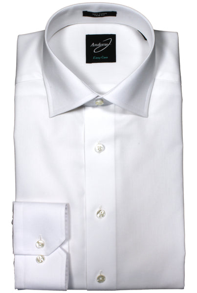 Andrew-J Europa Trim Fit Easy Care Cotton Dress Shirt