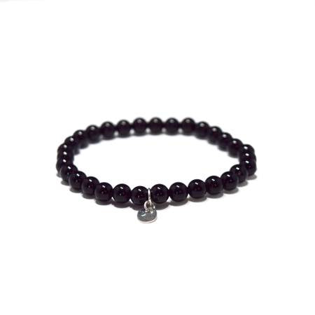 J. Andrew Black Onyx Stretch Bracelet