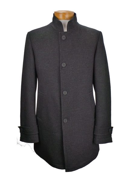 Carl Gross Ronnald Lightweight Textured Wool Car Coat