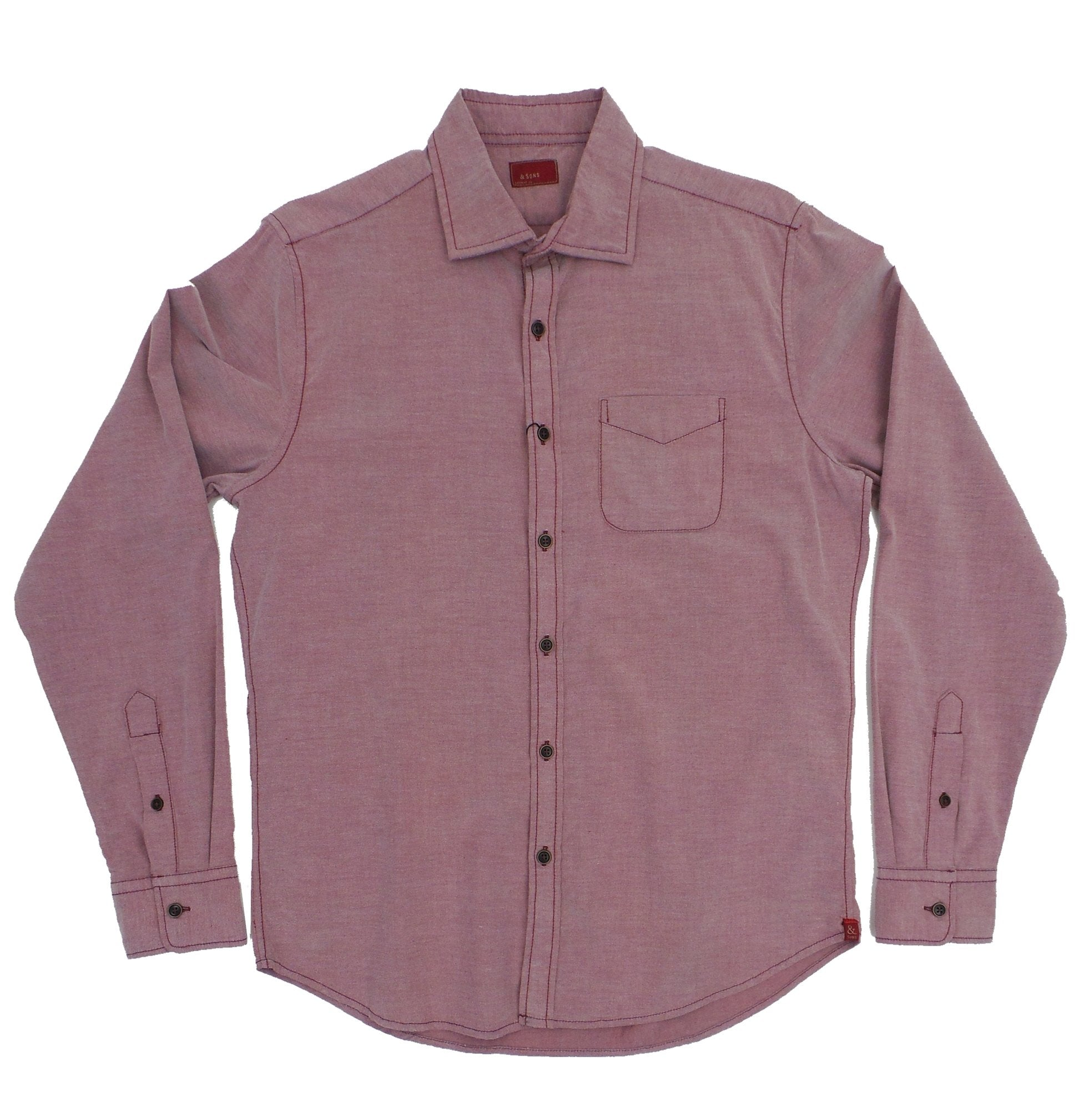 & Sons Garment Co. Pinpoint Oxford Button Down Woven Shirt
