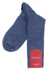 Marcoliani 2740 Extra Fine Merino Ribbed Dress Socks