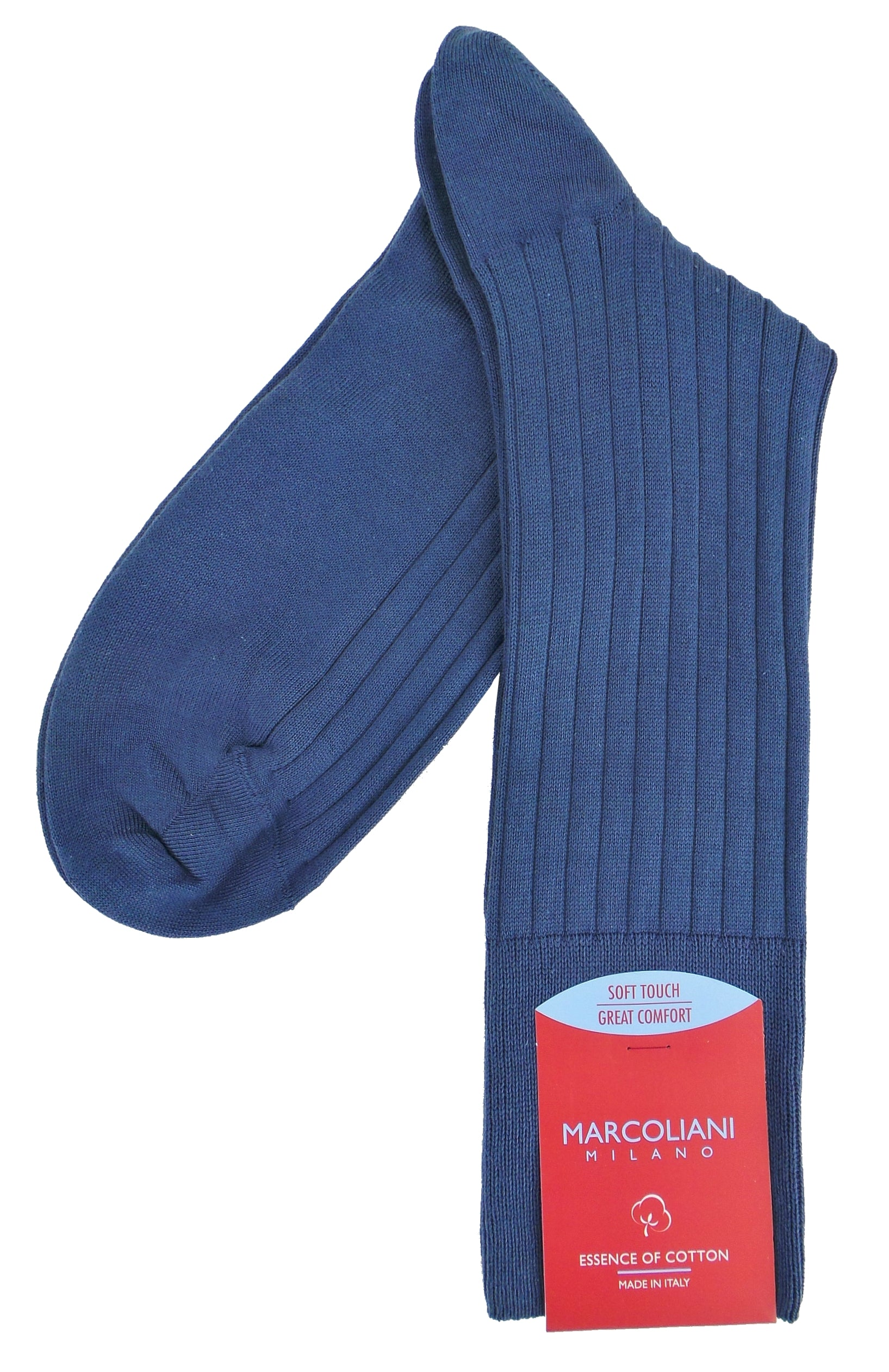 Marcoliani 4001 Essence of Cotton Soft Ribbed Dress Socks