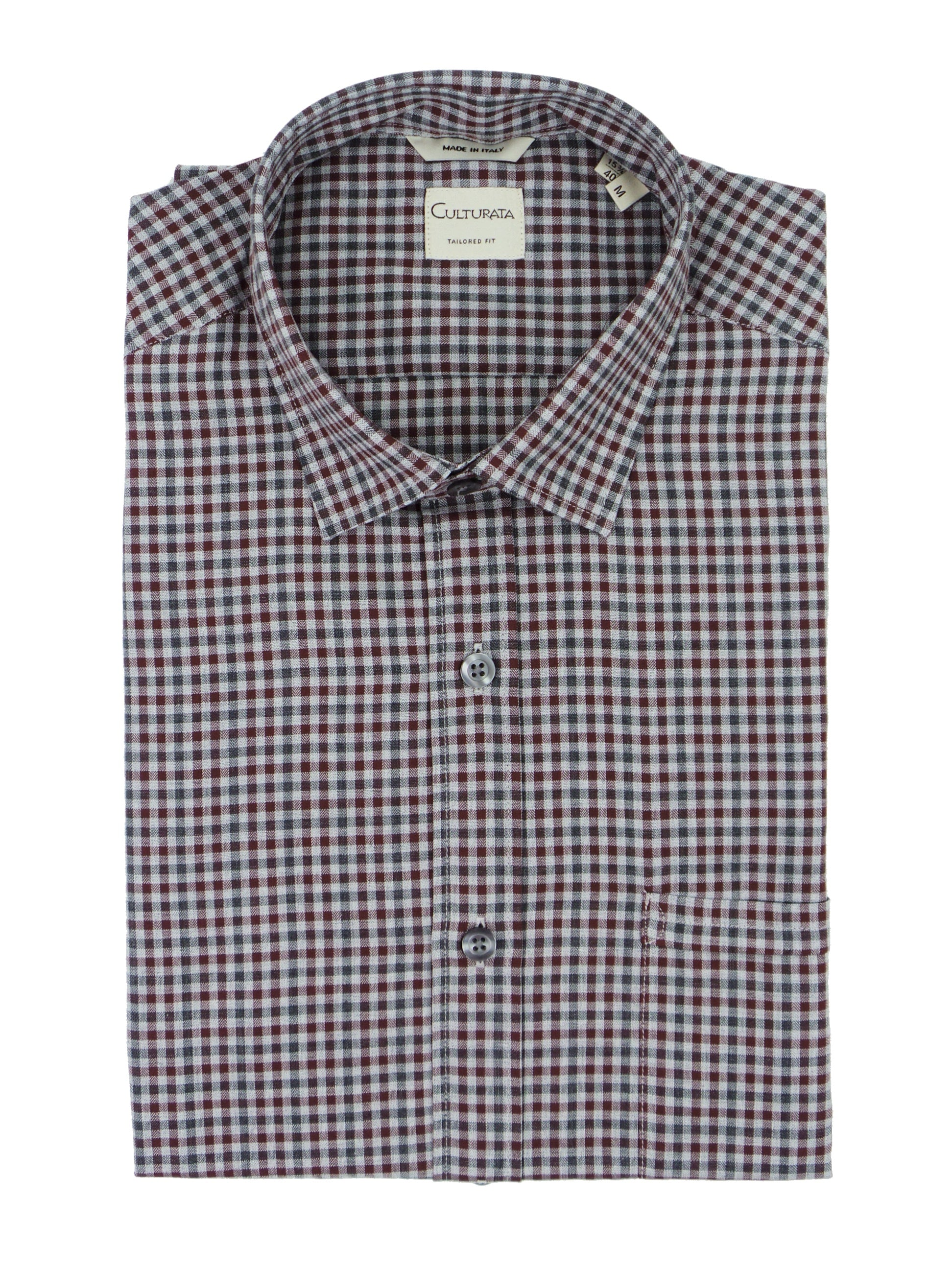 Culturata Soft Touch Modern Gingham Button Up Shirt