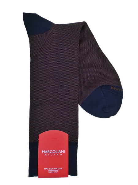 Marcoliani 3741 Pima Cotton Lisle Birdseye Dress Socks