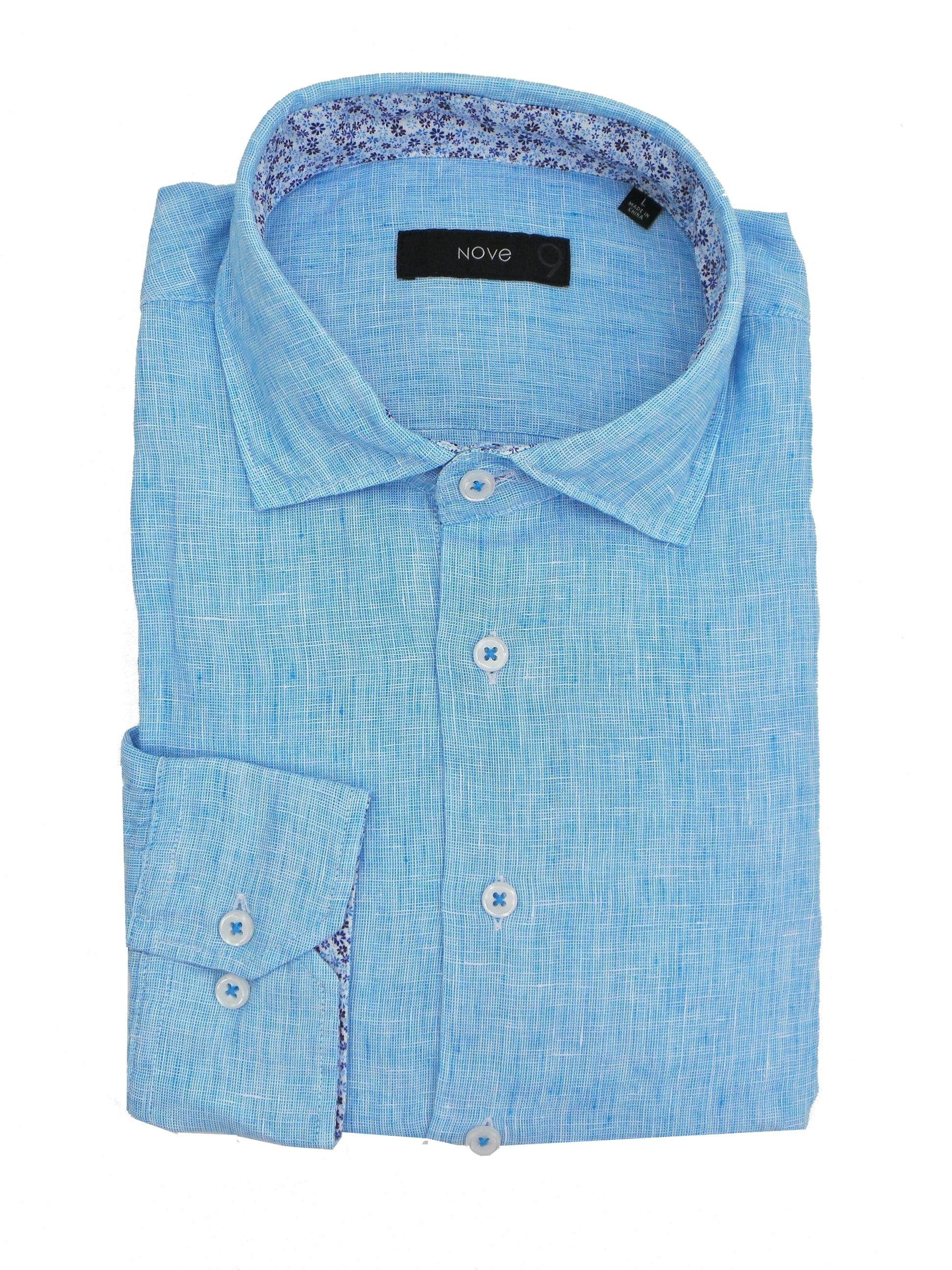 Nove 9 End on End Soft Washed Linen LS Shirt