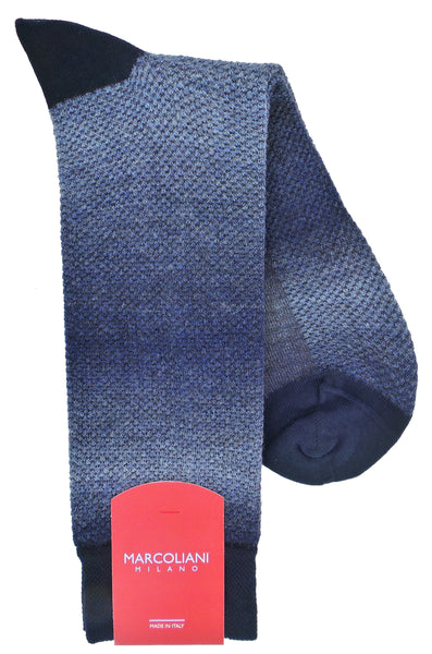 Marcoliani 4321 Wool Blend Texture Pique Knit Dress Socks
