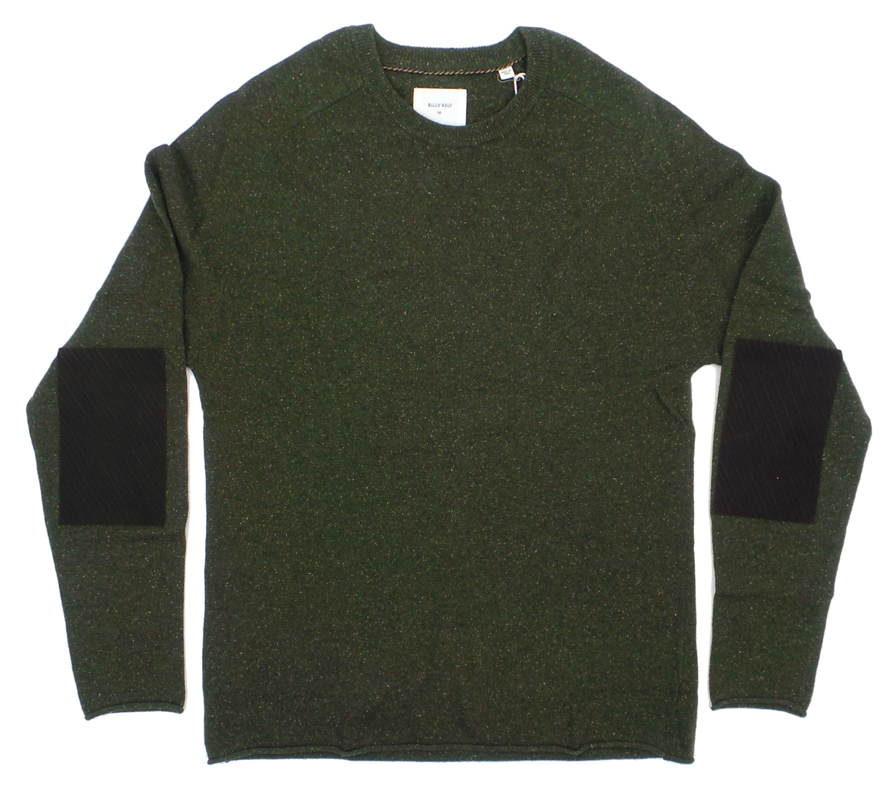 Billy Reid Heirloom Saddle Merino Blend Crew Neck Sweater