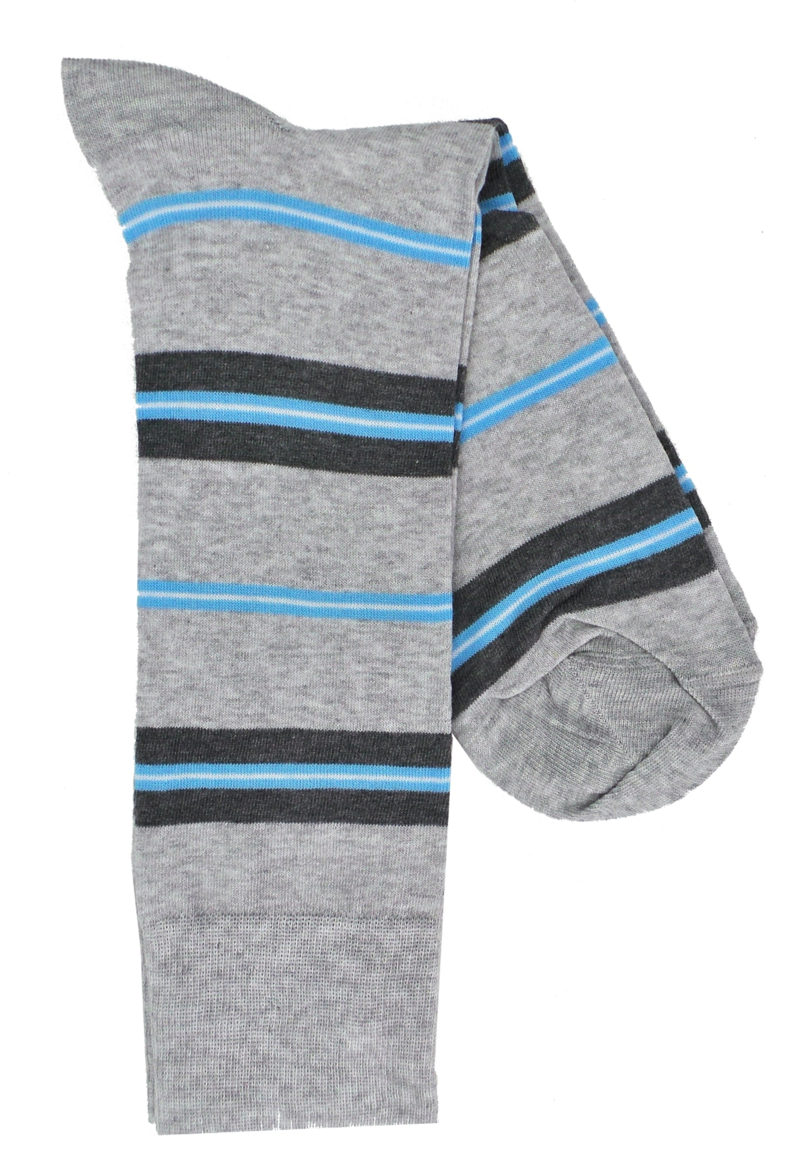 Lorenzo Uomo Simple Stripe Combed Cotton Blend Dress Socks