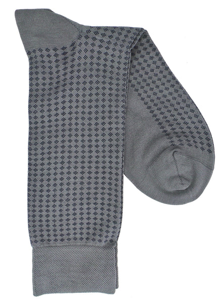 Marcoliani 4344 Pima Cotton Micro Diamond Dress Socks