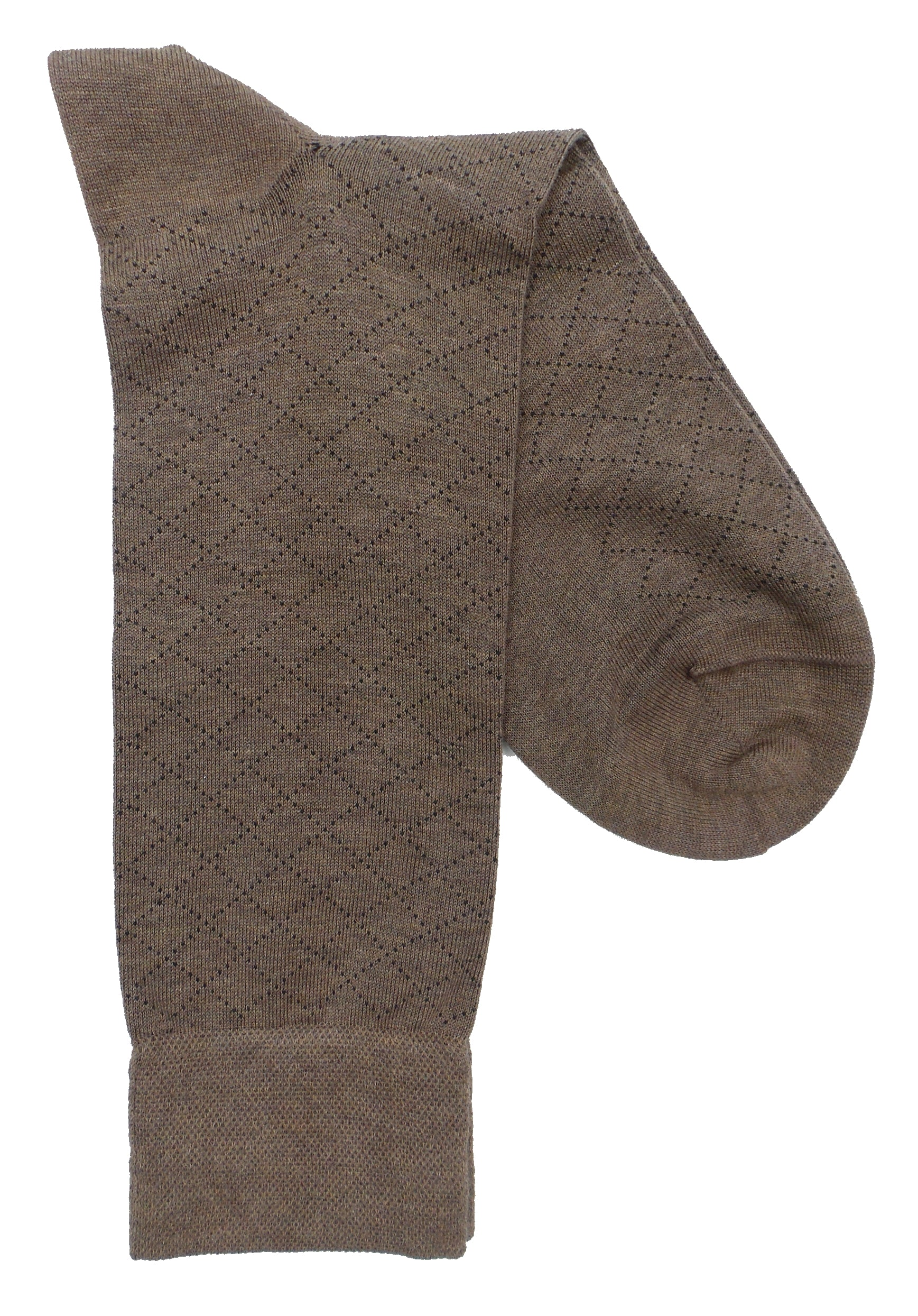 Marcoliani 4396 Pima Cotton Micro Argyle Dress Socks
