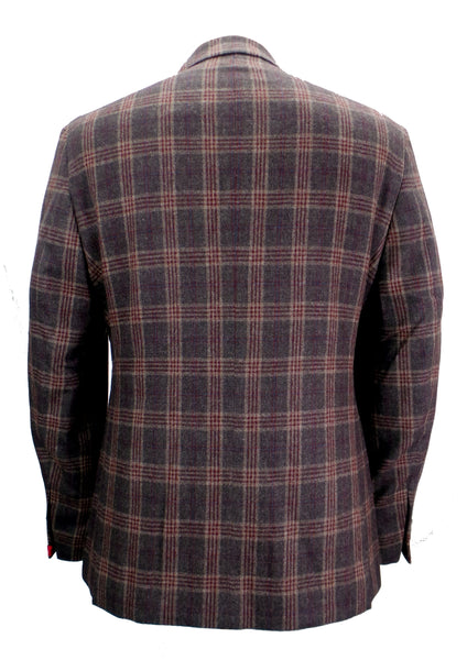 JKT New York Trent Modern Plaid Wool Blazer