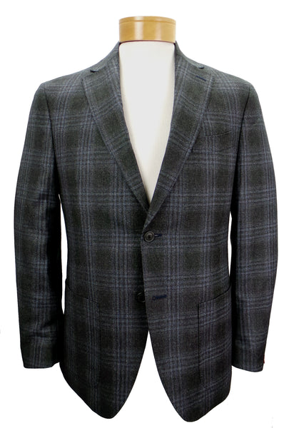 JKT New York Trent Windowpane Plaid Wool Blazer