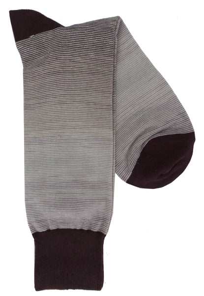 Lorenzo Uomo Mille Righe Stripe Cotton Blend Dress Socks