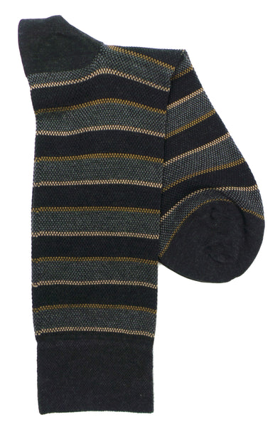 Marcoliani 4309 Pique Club Stripe Pima Cotton Socks