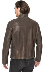 Regency Edward Soft Lamb Leather Bonded Moto Style Jacket