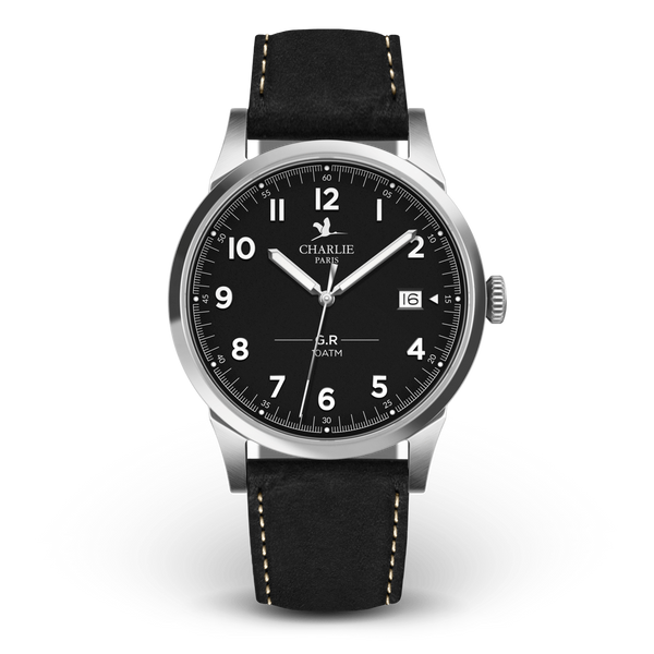 Charlie Paris GR Sport Black Miyota Quartz Watch