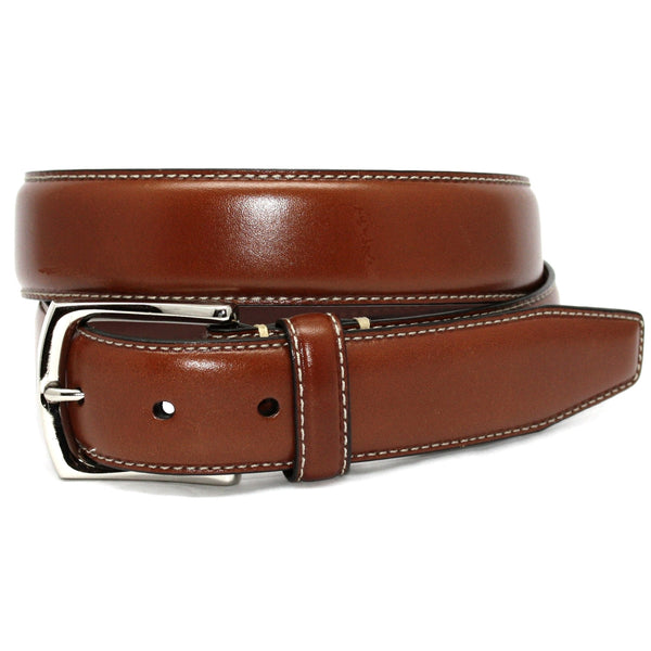 Torino Burnished Waxhide Tumbled Leather Belt