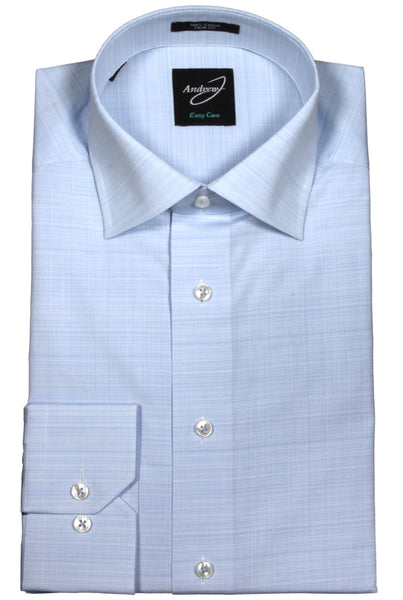 Andrew-J Heather Woven Europa Trim Fit Dress Shirt