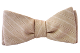 ZB Savoy Made In California Gandolf The Tan Stripe Bowtie