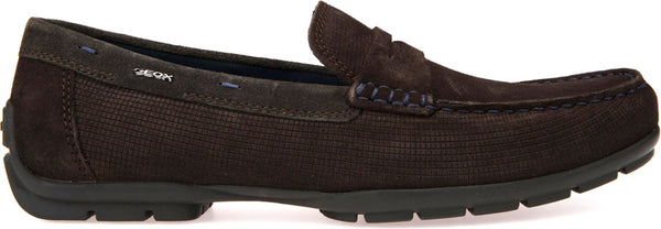 Geox Monet Full Grain Leather Suede Loafers