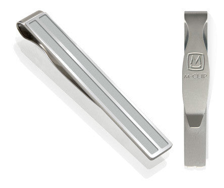M-Clip 2 Bar Steel Channeled Tie Clip