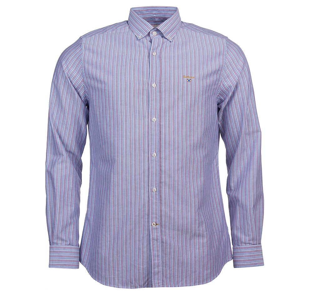 Barbour Saltire  3 Stripe Woven Oxford Button Down Shirt