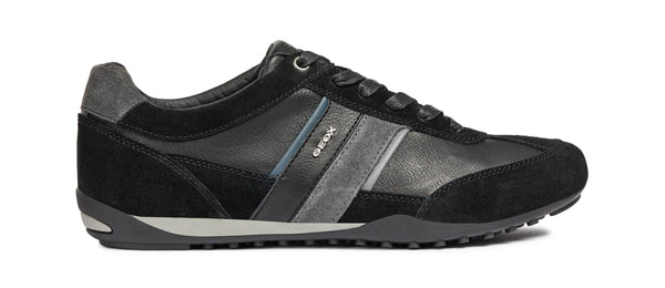 Geox Wells Lightweight Leather Suede Sneakers