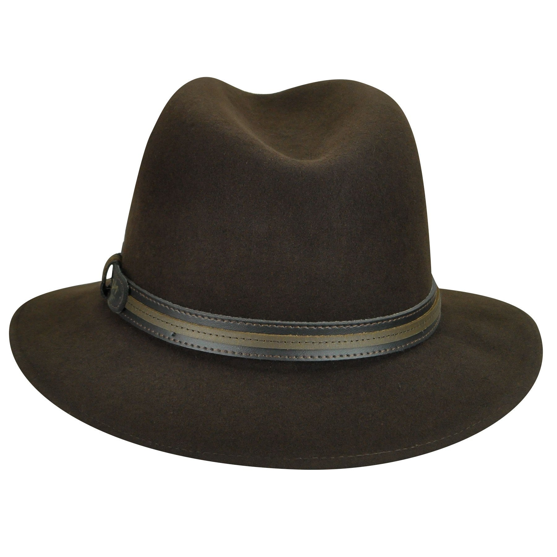 Bailey of Hollywood Brandt Fedora Double Leather Band Hat