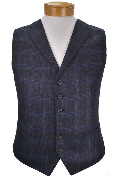 JKT New York Regis Fully Lined Plaid Wool Vest