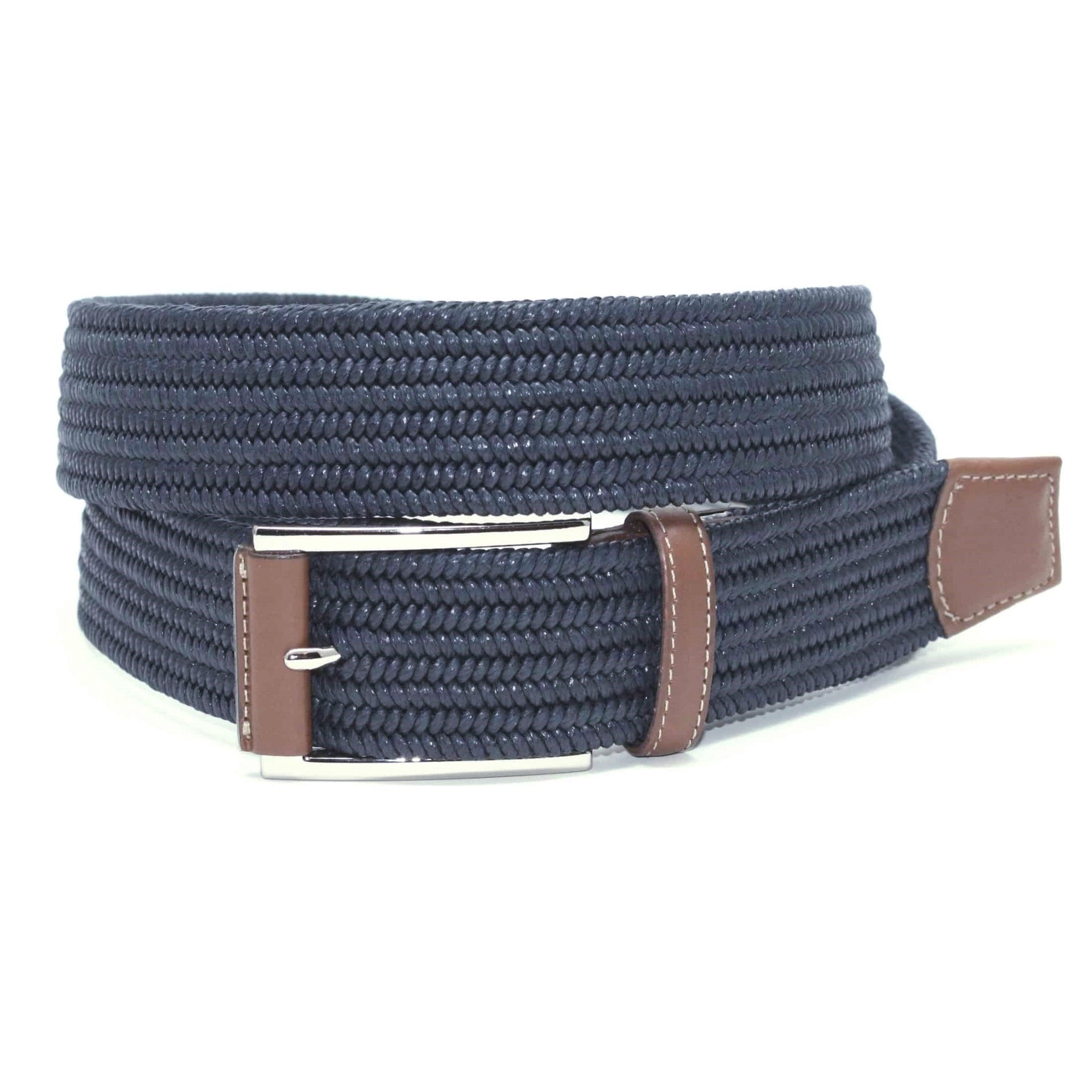 Torino Italian Mini Woven Cotton Stretch Belt