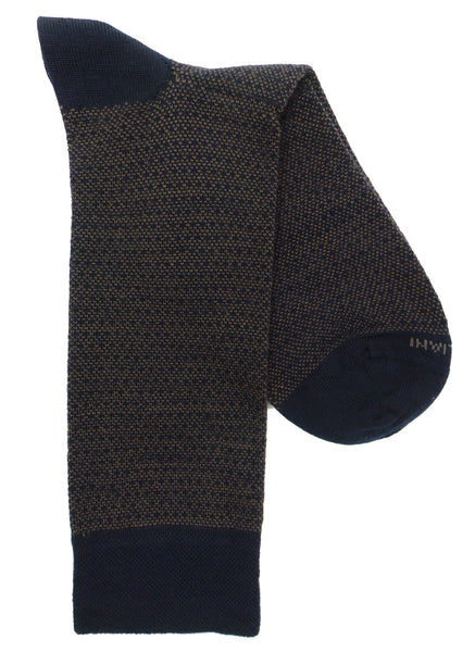 Marcoliani 4330 Extrafine Merino Birdseye Dots Dress Socks
