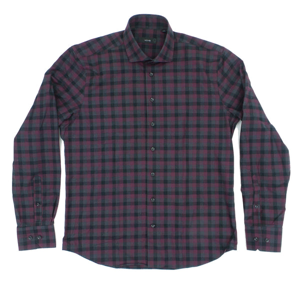 Nove 9 Soft Brushed Woven Check Pattern Cotton Shirt