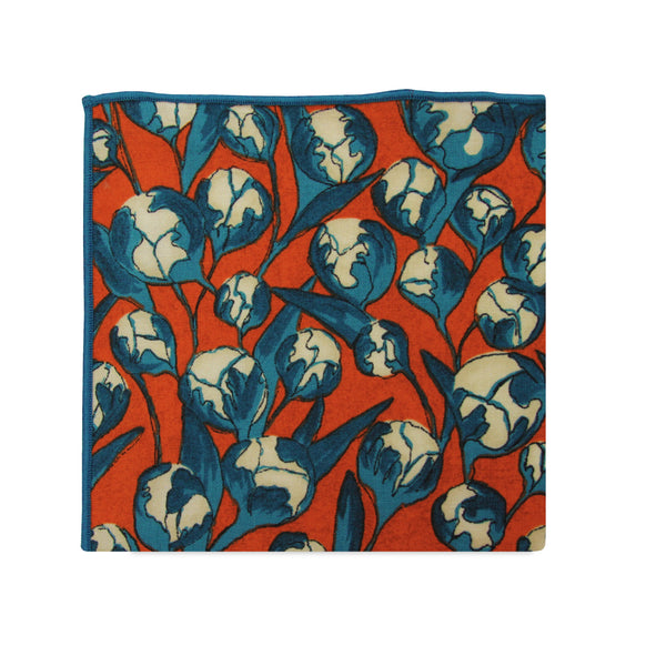 PSC Dawn Artistic Floral Cotton Pocket Square