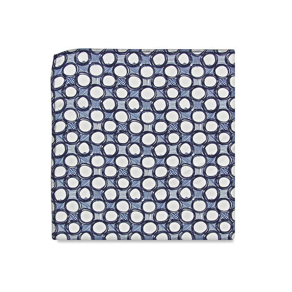 PSC Fabien Abstract Patterned Pocket Square